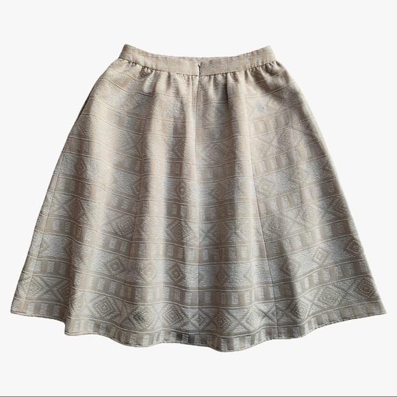 Halogen Tan & Cream A-Line Skirt Size 6